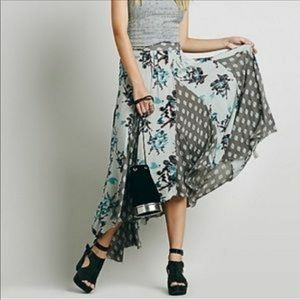 Free People show off your maxi skirt in blue